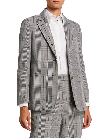 Prince of Wales Twill 2-Button Jacket