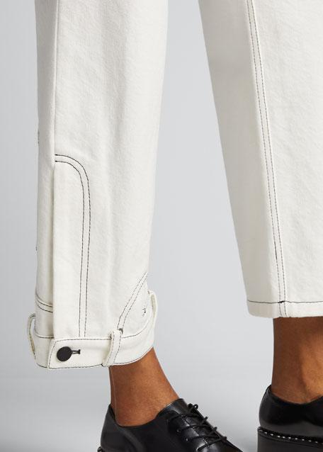 Upside-Down-Leg Jeans