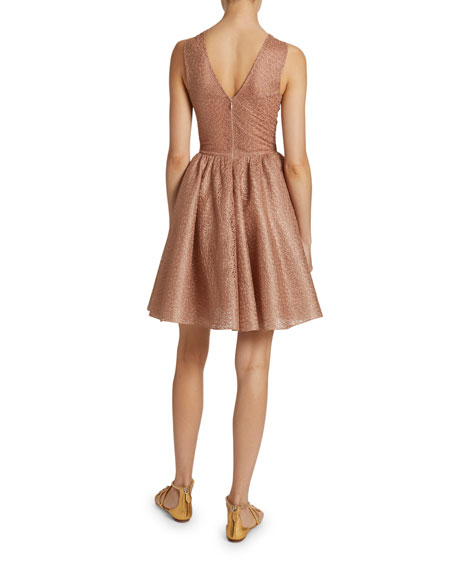 Macrame Halter-Neck Fit & Flare Dress