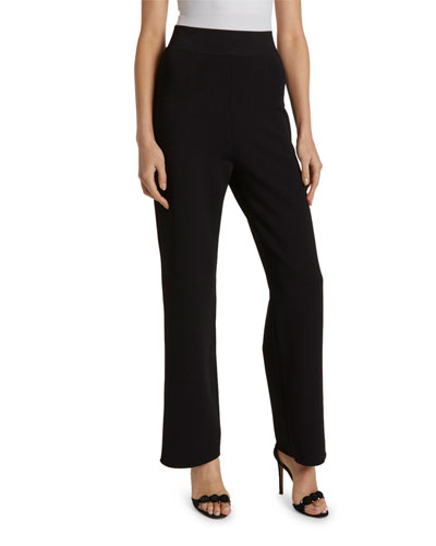 Basic Knit Wide-Leg Trousers