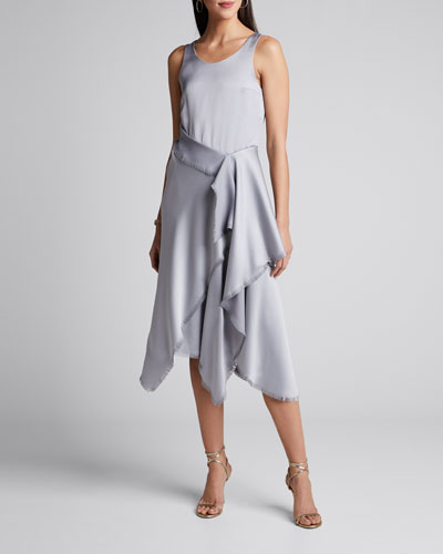 Satin Asymmetric Dress