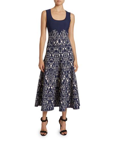 Closerie Print Jersey A-Line Dress