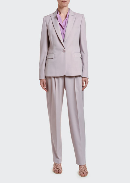 Stretch Wool Tailored Jacket