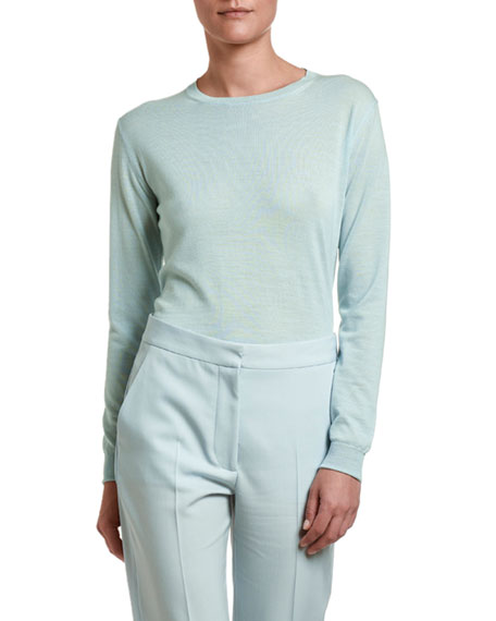 Lightweight Wool Crewneck Sweater