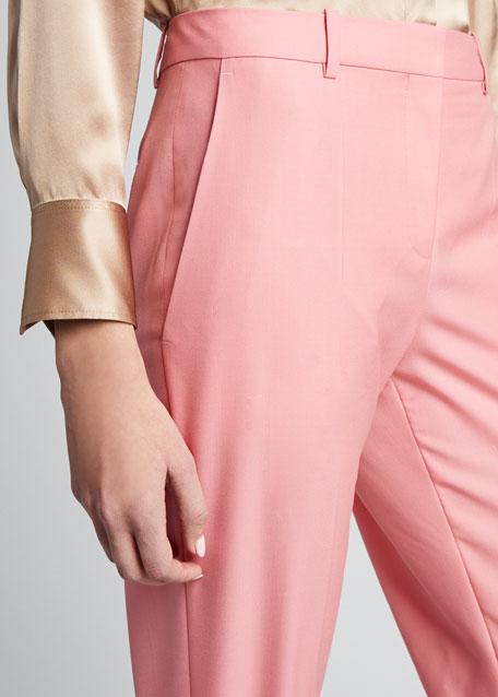 Wool Cigarette Trousers