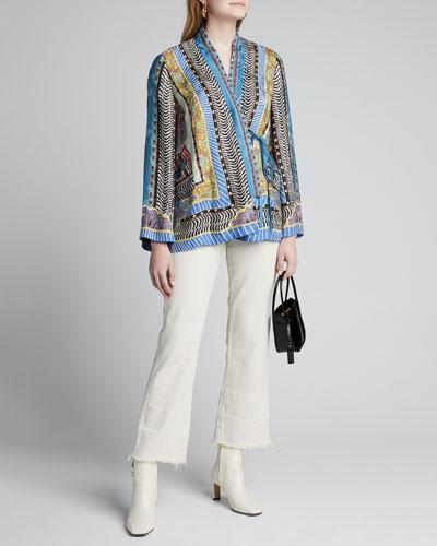Dreamtime Paisley Silk Wrapped Jacket