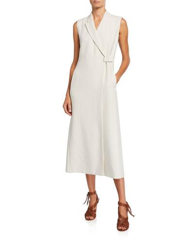 Tab-Waist Vest Dress