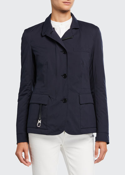 Nylon Roadster Button-Front Jacket