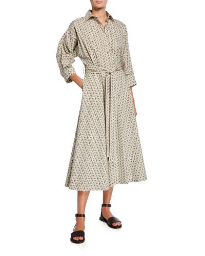 Marylou Mosaic Print Belted Dress