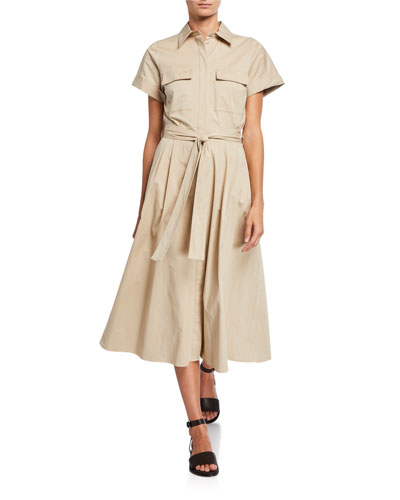 Julia Belted Shirtdress
