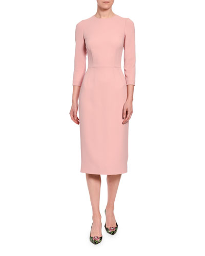 Cady 3/4-Sleeve Pencil Dress