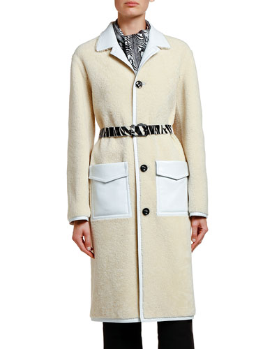 Shearling Duster Coat