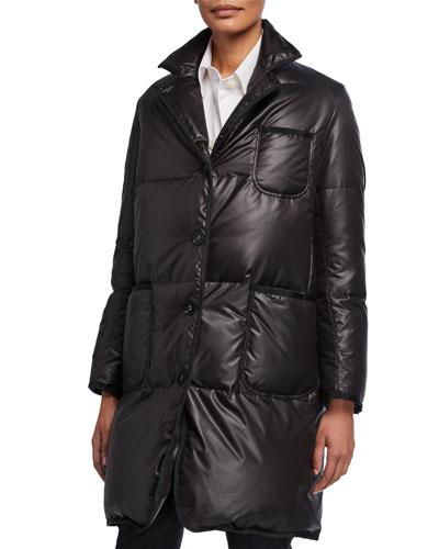 Narrow-Shoulder Down-Filled Coat