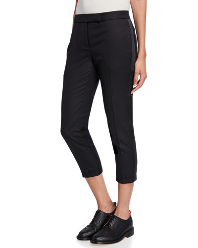 Low-Rise Skinny Tuxedo Trousers