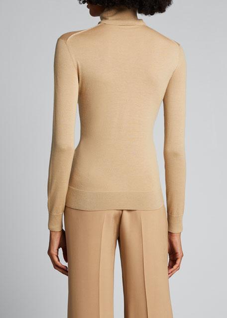 Cashmere Long-Sleeve Turtleneck Sweater