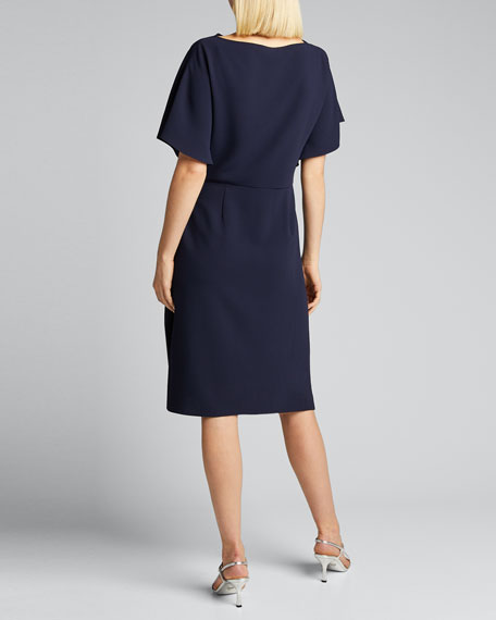 Wayland Short-Sleeve Wrap Dress