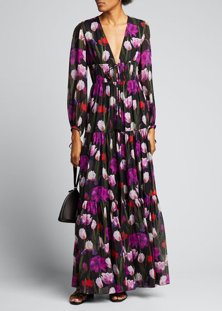 Image 1 of 1: Freya Tulip Georgette Maxi Dress