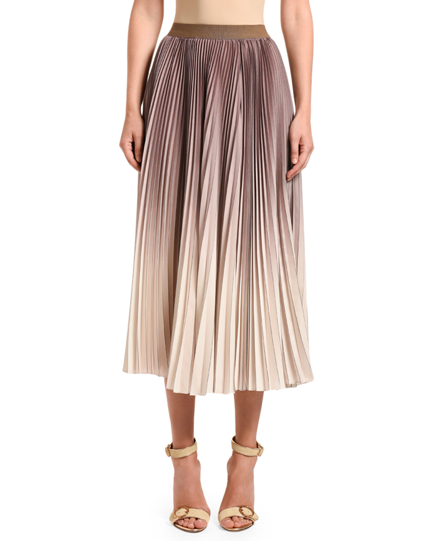 Agnona Skirts OMBRE PLEATED MIDI SKIRT
