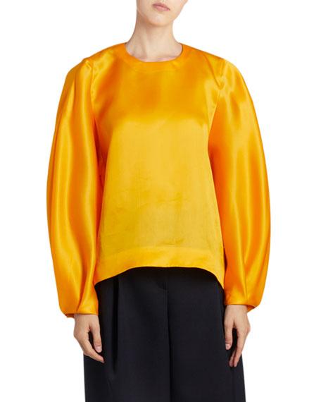 Silk Long-Sleeve Top