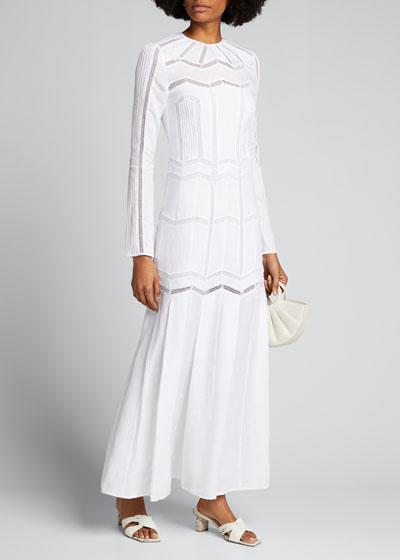 Beavior Herringbone Wool Dress