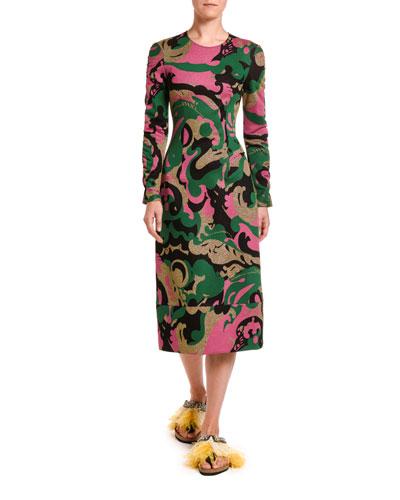Long-Sleeve Body-Con Goddess Dress