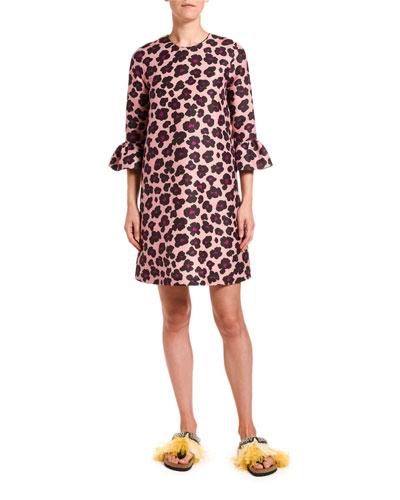 24/7 Animal-Print Cady Dress