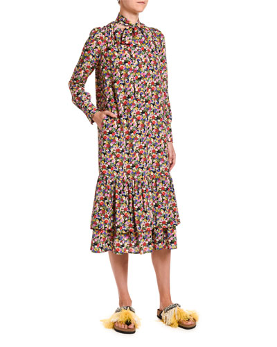 Good Witch Floral-Print Dress
