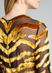 Tiger-Striped Velvet Burnout Dress