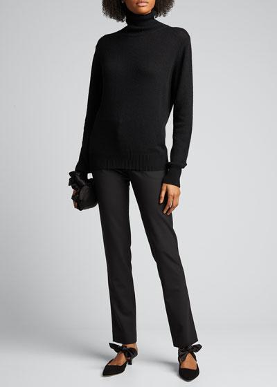 Sachi Cashmere-Cotton Turtleneck Sweater