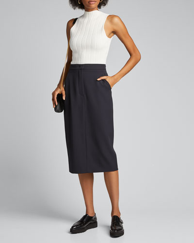 Frais Wool Pencil Skirt
