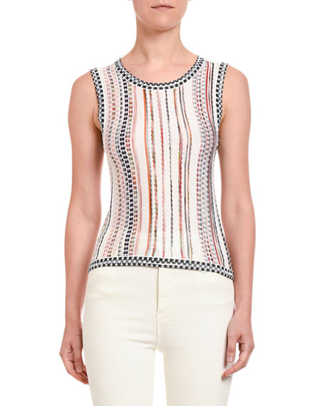 Bubble Knit Shell Top
