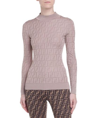 Tonal-Monogram Jacquard Sweater
