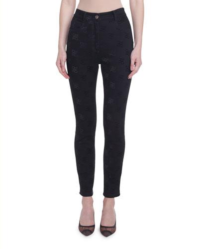 Karligraphy Jacquard Skinny Jeans