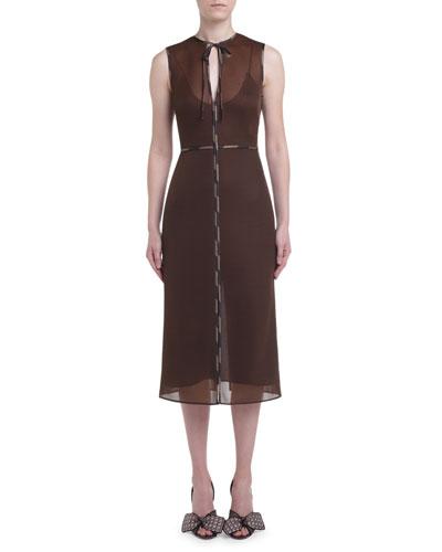 Sponge-Mesh Sleeveless Dress