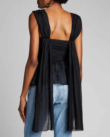 Ruched Fit & Flare Shirt