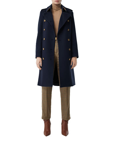 Cashmere Double-Breasted Coat
