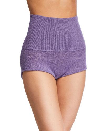 Belinda Cashmere High-Rise Shorts