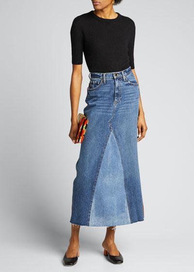 Magdalena Denim Maxi Skirt