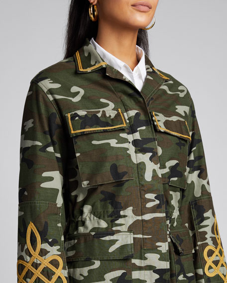 Wren Embroidered Camo Cotton Jacket