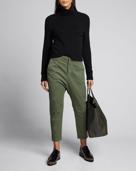 Paris Straight-Leg Cropped Pants