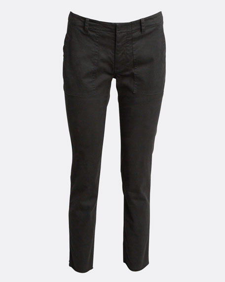 Jenna Cropped Raw-Edge Pants