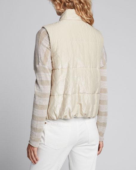 Shiny Cotton Padded Vest
