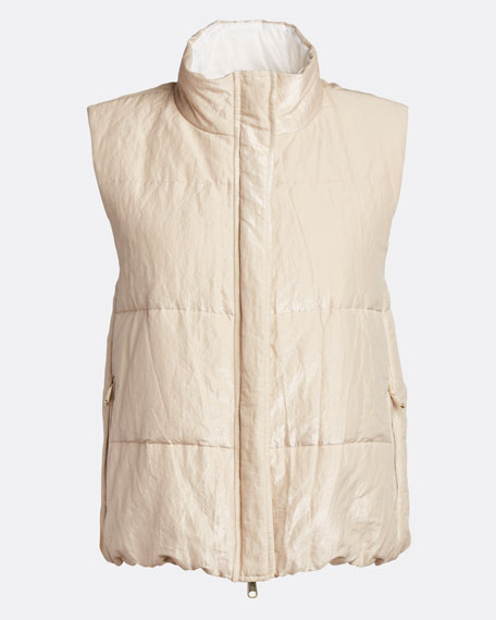 Shiny Cotton Padded Vest