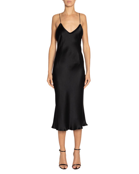 Silk Midi Slip Dress by Saint Laurent