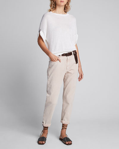 Dyed Cropped Jeans