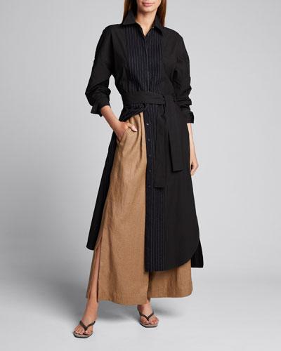 Monili Cotton Long Shirtdress