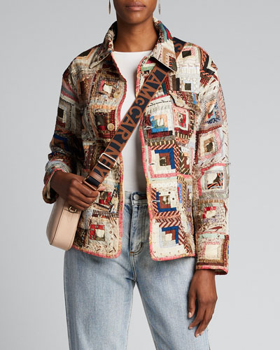 Quilted Patchwork Workwear Jacket