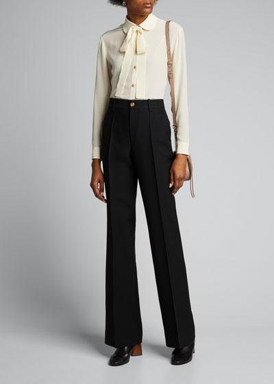 70s Wool-Silk Cady Pants