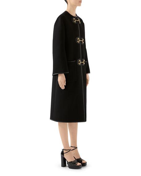 Wool Military Cloth Horsebit Coat