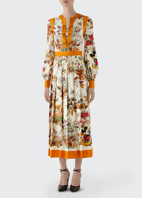 Autumn Mickey Mouse Long-Sleeve Dress